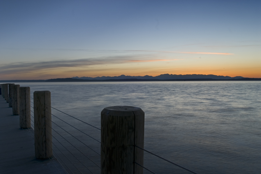 Olympic Sunset from Alki Point