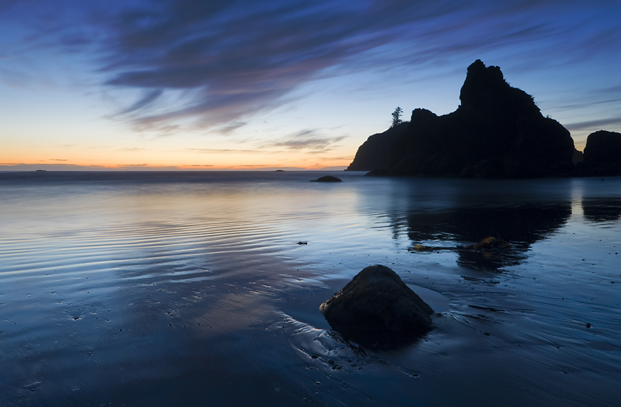 Nightfall on Ruby Beach