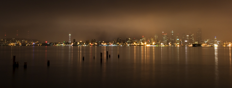 Seattle From Alki with Fog