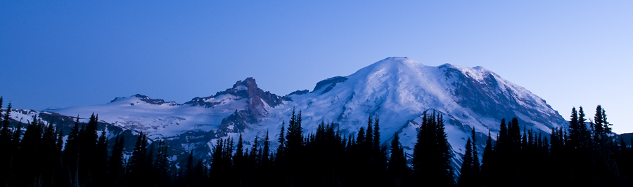 Mount Rainier at Dusk