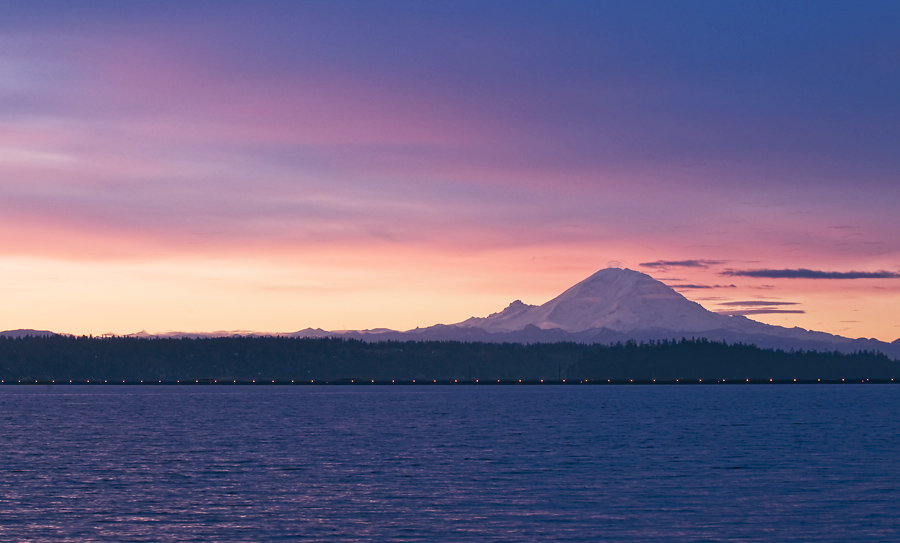 Rainier Sunrise of Lake Washington