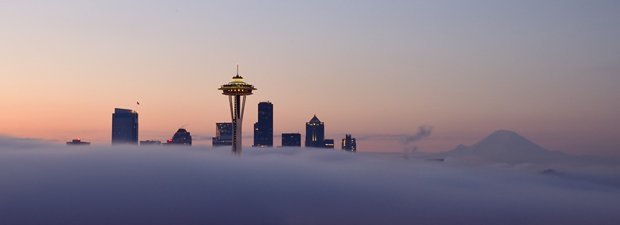 Seattle in the Fog